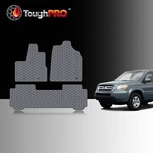 Toughpro Floor Mats Gray For Honda Pilot All Weather Custom Fit 2003 2005
