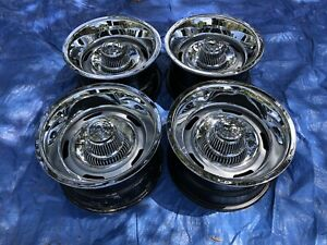 1969 82 Corvette Az 15x8 Oem Rally Wheel Mismatch Dates Set Of 4 Restored