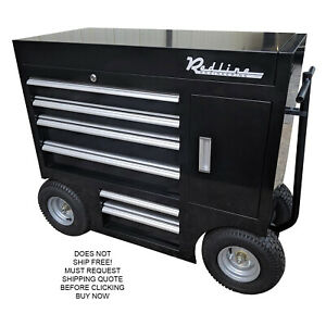 Redline 42 quot Toolbox Pit Box Storage Mobile Wagon Cart