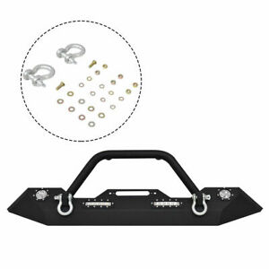 Ironmax Front Bumper 2007 2016 Jeep Wrangler Jk Winch Plate Built in Led Lights