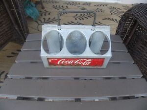 RARE Coca-Cola 6 Bottle Aluminum Carrier Good Condition With Working Handle L@@K