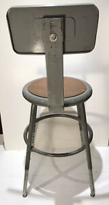 Vintage Industrial Seating Metal Drafting Stool Adjustable Factory Shop Chair