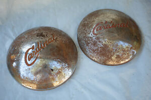 Pair Or Rusty Old Cardinal Travel Trailer Hubcaps S5r Rat Rod 10 5