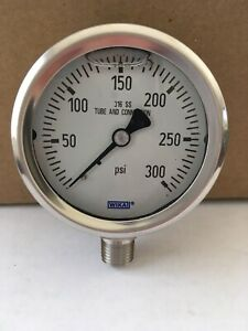 Wika 300 Psi Pressure Gauge 316 Stainless Steel Tube connection Bottom Connect