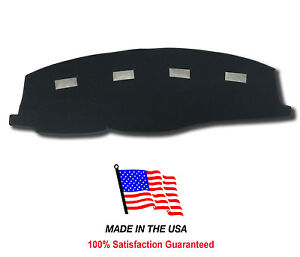 Black Dash Mat Compatible With 2006 2009 Dodge Ram Pick up 3500 Dash Cover
