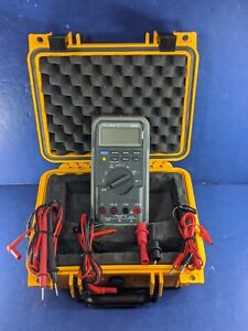 Fluke 87 Trms Multimeter Screen Protector Hard Case Accessories Excellent