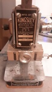 Kingsley Hot Foil Stamp Machine With Accesories Antique Vintage No Model