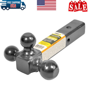 Tri Ball 2 Inch Tow Hitch Receiver Triple Mount Heavy Duty Towing Travel Trailer