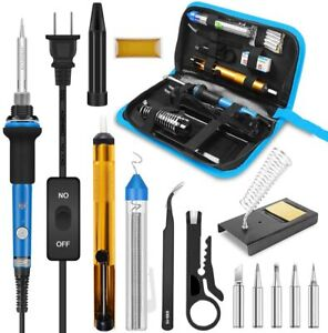 Soldering Iron Station 60 Watt 110 120v Rapid Heating Soldering Iron Kit Welding