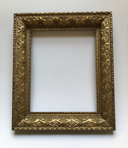 Beautiful Ornate Highly Detailed Antique Gold Frame Holds 8 X 10 Image
