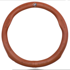 Hot Car Steering Wheel Cover For Buick Logo Genuine Leather Brown 38cm M Size
