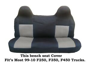 Black gray Mesh Fabric Bench Seat Cover Fit Ford F 250 f 350 f 450 99 08 Truck s