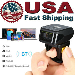 Portable Wireless Bluetooth Scanner Wearable Ring Barcode Reader For Ios android