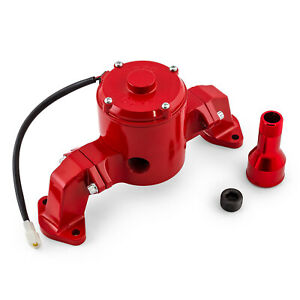 Chevy Bbc 454 35 Gpm Electric Water Pump Powdercoated Red