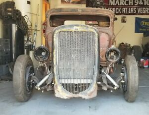 1936 Ford Pickup Hot Rod Chassis Cab Bed Grill Rat Rod Projet Starter