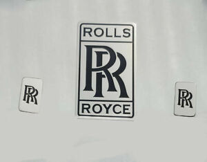 Rolls Royce Brass Chrome Front Radiator And Head Light Badge Blk Color Apo