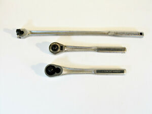 Three Vintage Craftsman Ratchet Wrenches