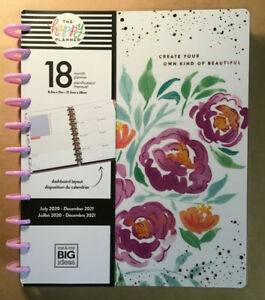 New 2020 2021 Me My Big Ideas The Happy Planner detailed Florals Big Dashbd