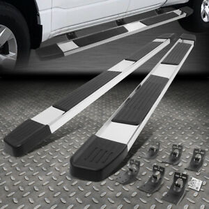 For 09 20 Dodge Ram 1500 2500 3500 6 Crew Cab Ss Flat Step Bar Running Boards