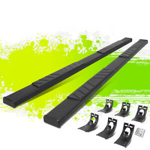 5 Coated Flat Running Boards Step Bars For Dodge Ram 1500 3500 Crew Cab 09 20