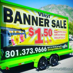 10 x20 Mobile Billboard Trailer Advertising Sign With Solar Panels
