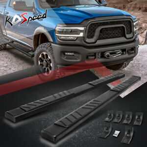 5 Coated Flat Side Step Bar Running Boards For 09 20 Dodge Ram Truck Crew Cab