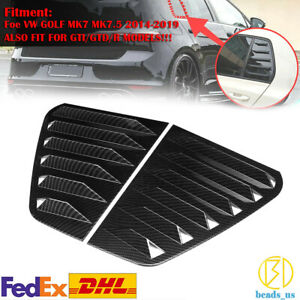 For Vw Golf Mk7 7 5 Gti R 2014 19 Carbon Look Window Louver Rear Side Vent Cover