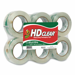 Hd Clear Packing Tape 3 Core 1 88 X 55 Yds Clear 6 pack 299016