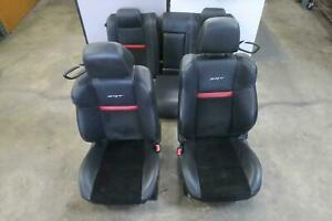 2011 2014 Dodge Challenger Front Rear Seat Set Bucket Electric Leather Oe 2012