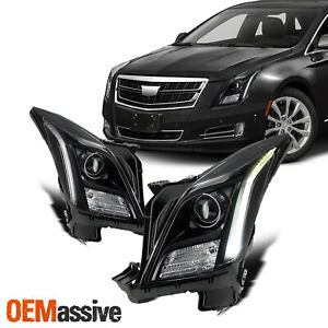 For 13 17 Cadillac Xts Non Afs Led Tube Projector Hid Type Black Headlights