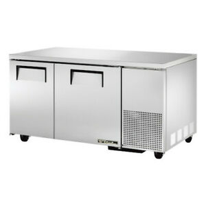 True Tuc 60 32 hc Two Section Side Mount Undercounter Refrigerator