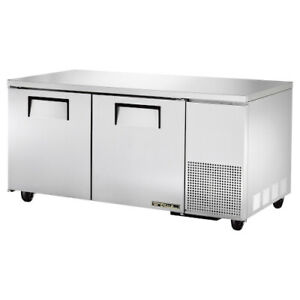 True Tuc 67 hc Two Section Side Mount Undercounter Refrigerator