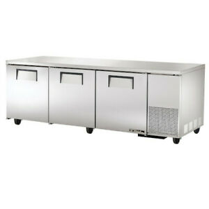 True Tuc 93 hc Three Section Side Mount Undercounter Refrigerator