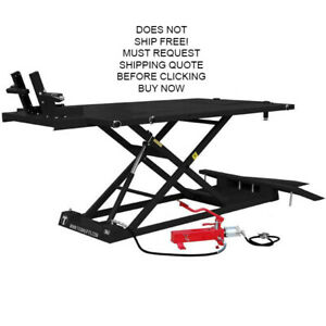 New Titan 1500xlt Motorcycle Atv Lift Lifting Table With Side Extensions Black
