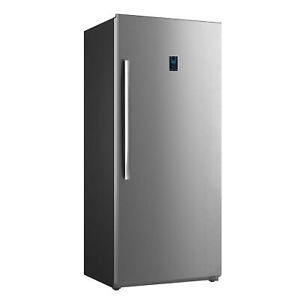 Smad 36 Wide French Door Refrigerator With Ice Maker 21 Cu Ft Stainless Steel