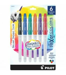 Pilot Frixion Colors Erasable Marker Pen Bold Point 2 5mm Asst Colors 6 box