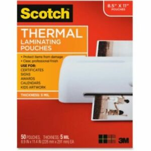 3m Scotch Thermal Laminating Pouches Tp585450