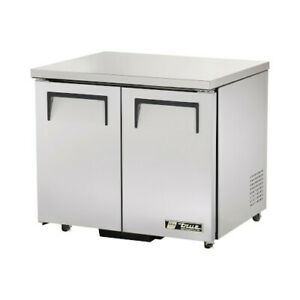 True Tuc 36 ada hc Ada Compliant Two Section Solid Undercounter Refrigerator