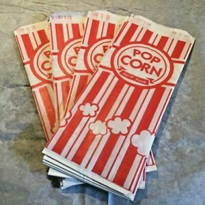 Carnival King Paper Popcorn Bags 50 Bags New Unopened Package