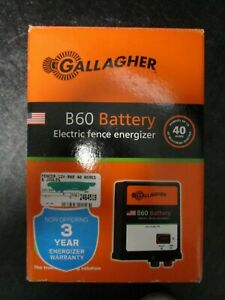Gallagher B60 Battery Electric Fence Energizer Brand New