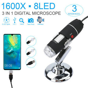 8led 10x 1600x Usb Digital Microscope Endoscope Magnifier Camera Us Seller