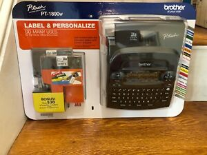 Brother P touch Pt 1890w Labeler 2tapes Thermal Machine Label Printer Maker New