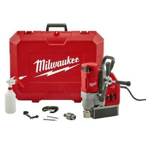 Milwaukee Electromagnetic Drill Kit Magnetic Base Tool Free 13 Amp 1 5 8 Inch
