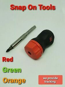 Snap On Tools Sgdmrc11ag Ratcheting Soft Grip Pocket Screwdriver 3 Colors New