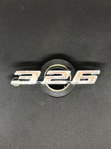 1967 Pontiac Tempest Lemans Chrome 326 Front Fender Emblem Badge 9787904 Gm