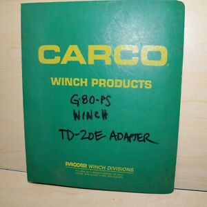 Carco G 80 Ps Winch Td 20e Tractor Repair Shop Service Manual Parts Owner Book