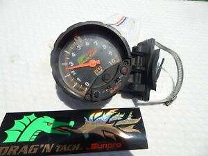 Vintage Sun Pro Drag N Tach Tachometer With Decal