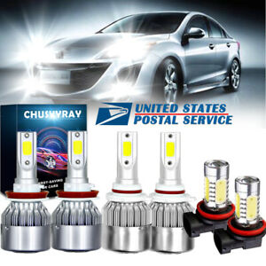 For Mazda 3 2004 2005 2006 Led Headlight 9005 H7 Bulbs H11 Fog Light 6x 6000k