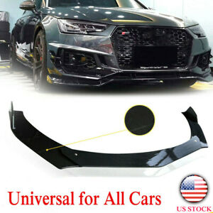 Usa 3x Car Front Bumper Lip Chin Spoiler Splitter Universal Carbon Fiber Look