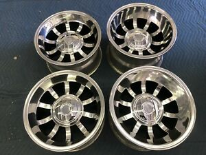 Vintage 15x8 5 10 Western Bullet Style Wheels 6 Lug Early Chevy Truck Restored